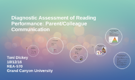 Diagnostic Assessment of Reading Performance: Parent/College
