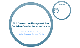 Bird Conservation Management Plan for Golden Ranches