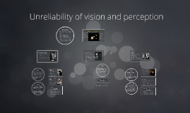 Unreliability of vision and perception