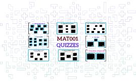 MAT001 - QUIZZES x 52