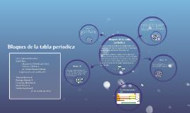 Bloques de la tabla periodica