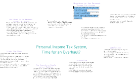 Personal Income Tax System, Time For An Overhaul?