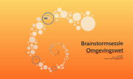 Brainstorm Omgevingswet