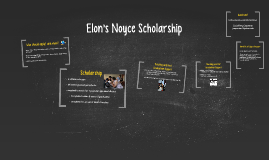 Elon's Noyce Scholarship