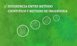 DIFERENCIA ENTRE METODO CIENTIFICO Y METODO DE INGENIERIA