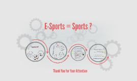 Esports = Sports ?