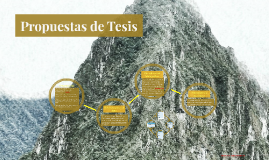 Propuestas de Tesis
