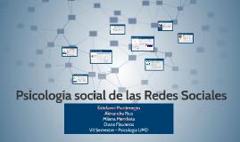Psicología social de las Redes Sociales