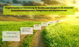 Evaluierung der Bundeszuwendungen an die deutschen Auslandshandelskammern, Delegationen und Repräsentanzen