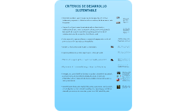 Criterios de Desarrollo Sustentable, propuesta