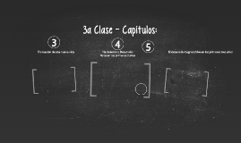 3a clase - Capítulos