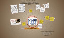 Proyecto de tesis de maestría.