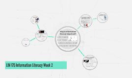 LIN 175 Information Literacy Week 2