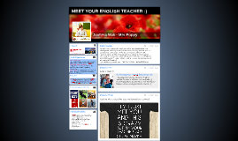 MEET YOUR ENGLISH TEACHER :)