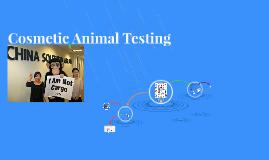Cosmetic Animal Testing