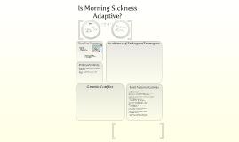 Evolution Of Morning Sickness