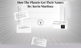 How The Planets Get Their Names?