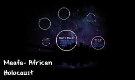 Maafa- African Holocaust