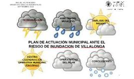 PLAN DE ACTUACION ANTE EL RIESGO DE INUNDACIÓN DEL MUNICIPIO DE VILLALONGA