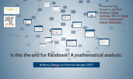 Is this the end for Facebook? A mathematical analysis