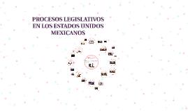 PROCESOS LEGISLATIVOS EN LOS ESTADOS UNIDOS MEXICANOS