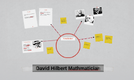 David Hilbert Mathmatician