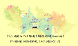 The light In The forest Figurative Language