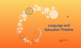 Language and Education Timeline
