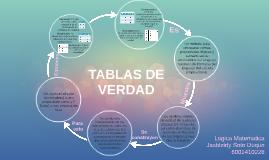 TABLAS DE VERDAD