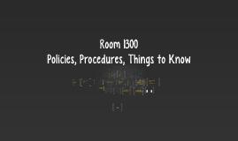 Classroom Procedures for 312