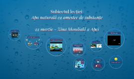 Copy of Apa naturală ca amestec de substanţe