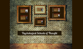 Copy of Copy of Schools of Thought in Psychology
