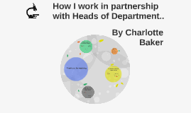 How I work in partnership with Heads of Department