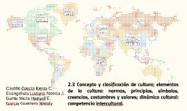 Concepto y clasificación de cultura; elementos de la cultura