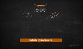 Debate Expectations