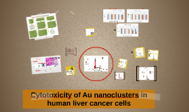 Cytotoxicity of Au nanoclusters in human liver cancer cells