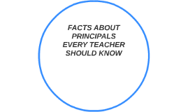 FACTS ABOUT PRINCIPALS EVERY TEACHER SHOULD KNOW