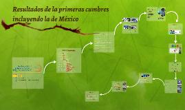3.3.Resultados de las principales cumbres incluyendo mexico