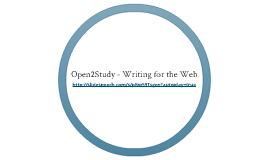 Open2Study - Writing for the Web