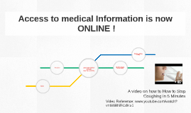 Access to medical Information is now ONLINE !