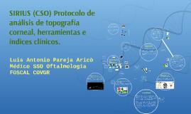 SIRIUS (CSO) Protocolo de análisis de topografía cornea, her