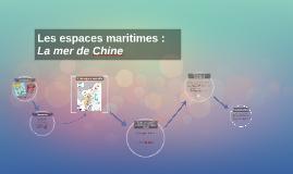 Mer de chine espace maritime