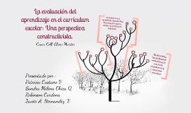 Copy of Evaluación del aprendizaje en el currículum escolar: Una perspectiva Constructivista