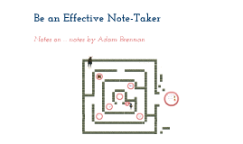 Copy of Be an Effective Note Taker!