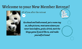 Welcome to your New Member Retreat!