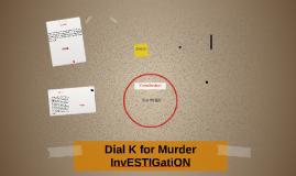 Dial K for Murder InvESTIGatiON