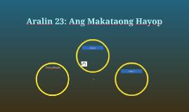 Aralin 23: Ang Makataong Hayop