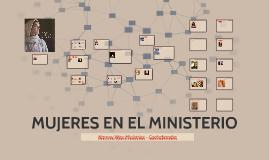 MUJERES EN EL MINISTERIO