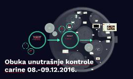 Obuka unutrašnje kontrole carine 08.-09.12.2016.