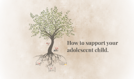 How to support your adolescent child.